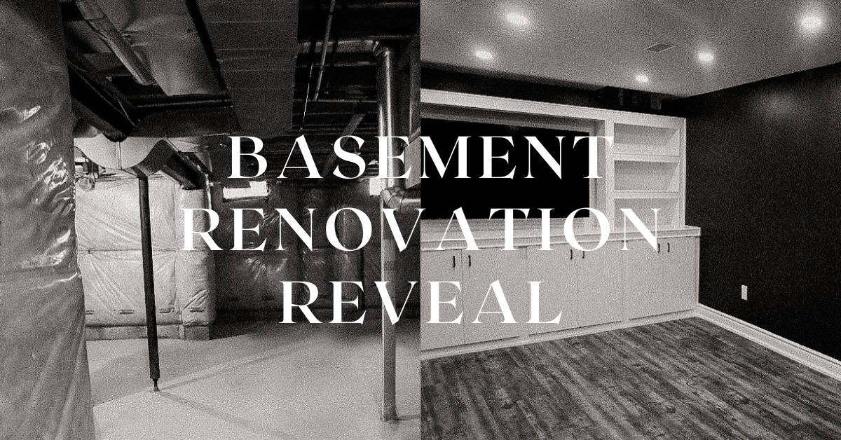 Unfinished Basement Renovation
